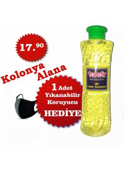 Limon Kolonyası Alana + Yıkanabilir Yüz Bandı Hediye