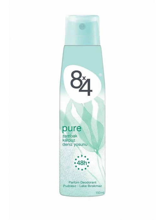 8X4 Deo 150ML  Pure