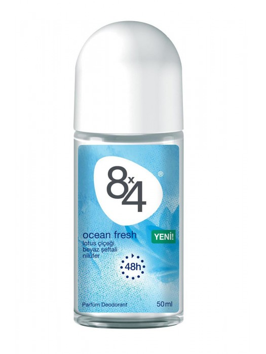 8X4 Roll-On 50ML  Ocean Fresh