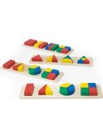 Ahşap Geometrik Şekiller Puzzle Oyuncak