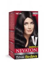 Nevaton Kalıcı Krem Saç Boyası 1.0 Siyah